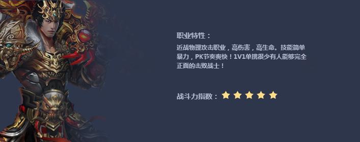 丽华传奇战士职业介绍