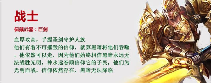 神印王座战士职业介绍